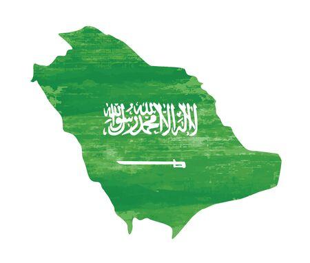 banderas del mundo: punteada textura Arabia Saudita vectores de fondo en blanco Vectores