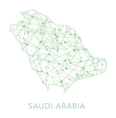 Saudi-Arabien gepunktete Textur Land auf weißem Hintergrund