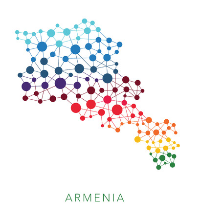 map of armenia: dotted texture Armenia vector background on white
