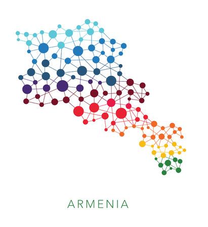 armenia: dotted texture Armenia vector background on white