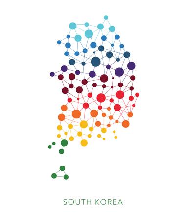 przerywana tekstury Korea Południowa wektor na białym tle