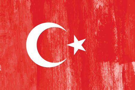 Türkei-Land-Flagge Grunge abstrakte Vektor-Hintergrund