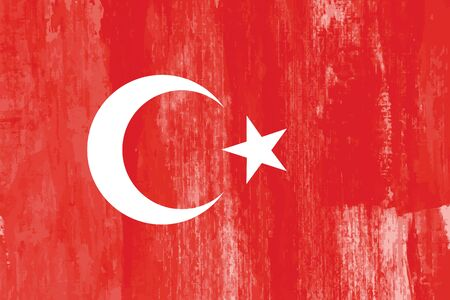 the country: Turkey country flag grunge abstract vector background