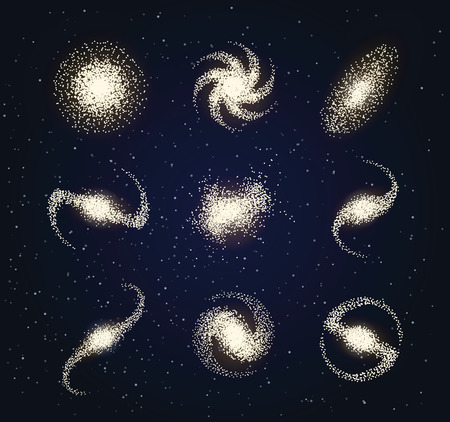 Galaxy types astronomy abstract