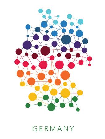 texture en pointillés Allemagne multicolore fond abstrait
