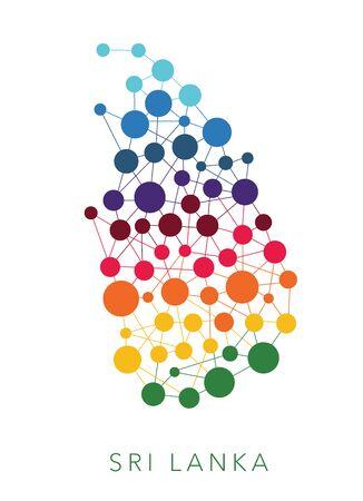 sri: dotted texture Sri Lanka multicolored abstract background