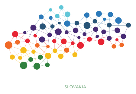 Dotted texture Slovakia vector background