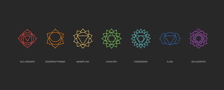 sahasrara: Chakras energy healing and sacred geometry Illustration