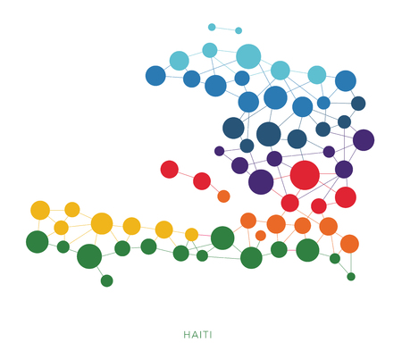 joining the dots: Haiti dotted texture