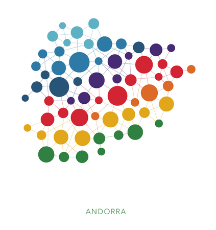dotted texture Andorra vector background