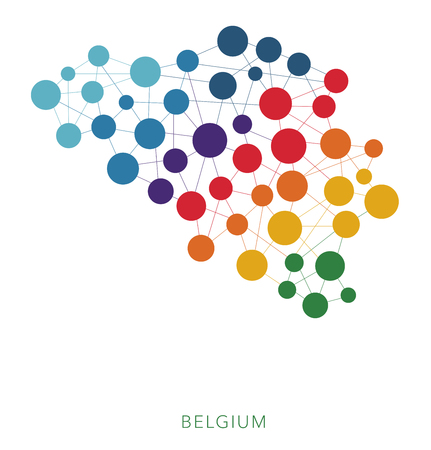 joining the dots: dotted texture Belgium vector background