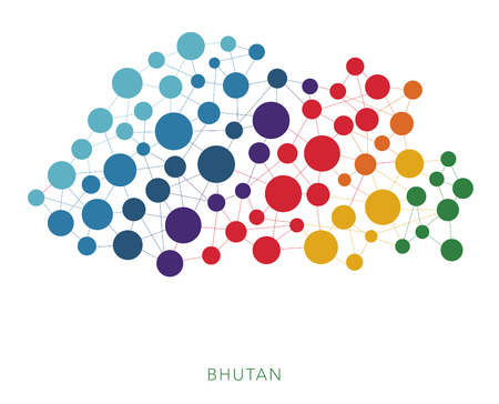 mainland: dotted texture Bhutan vector background Illustration