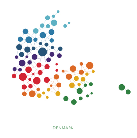 dotted texture Denmark vector background