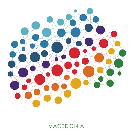 mainland: dotted texture Macedonia vector background
