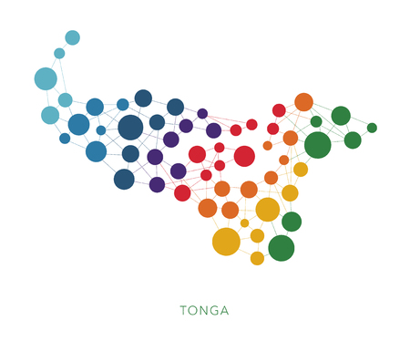 dotted texture Tonga vector background
