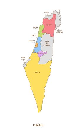 이스라엘 지역, 벡터 지리 배경