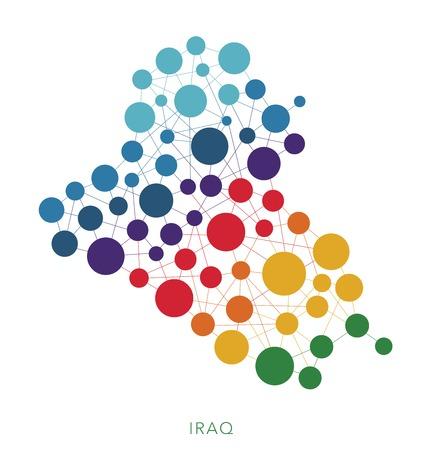 rainbow: dotted texture Iraq vector background