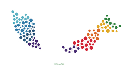 dotted texture Malaysia vector background Illustration