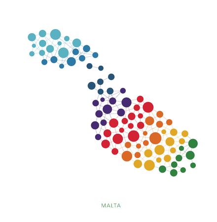 rainbow: dotted texture Malta vector background Illustration