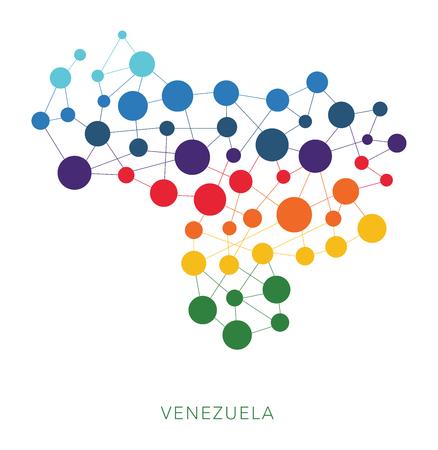 dotted texture Venezuela vector background Illustration