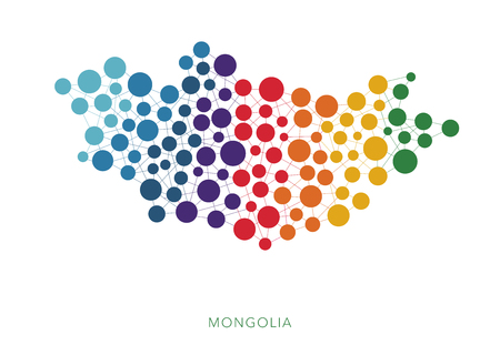 rainbow: Dotted texture Mongolia vector background