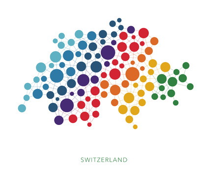 rainbow: Dotted texture Switzerland vector background Illustration