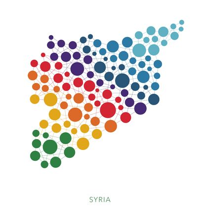 rainbow: Dotted texture Syria vector background