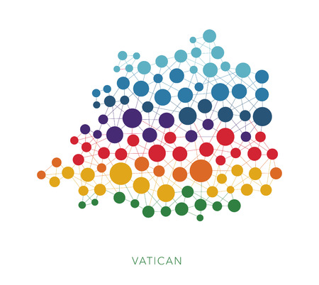 dotted texture Vatican vector background