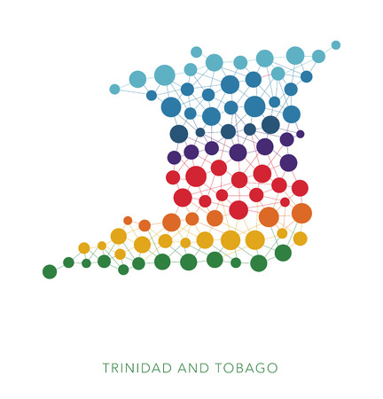 rainbow: dotted texture Trinidad and Tobago vector background