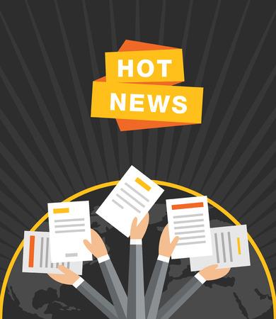 journalism: Concept of breaking news vector background