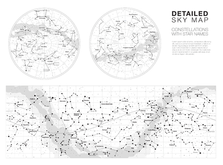 High detailed sky maps vector set Stock Vector - 87049522
