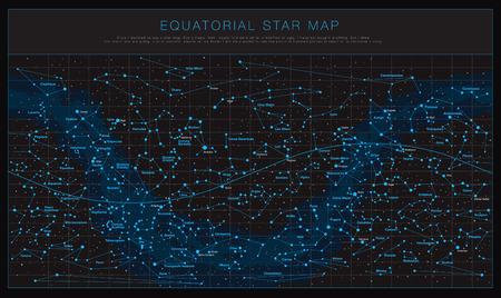 Alto insieme dettagliato di vettore delle mappe di cielo Vettoriali