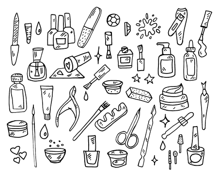 Nail Beauty Spa Manicure Vector Icon Illustration