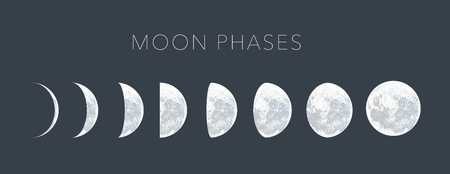 moon phases dot vector background Stock fotó