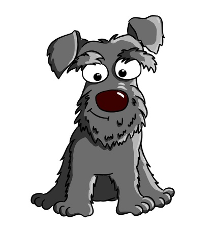 Cartoon Schnauzer  cartoon dog breed  Vector