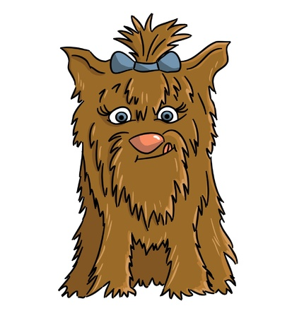 Cartoon Yorkshire  cartoon dog breed