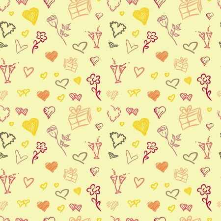 Valentine colorful pattern - various pictures of love