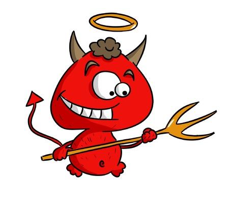 만화 귀여운 악마 일러스트