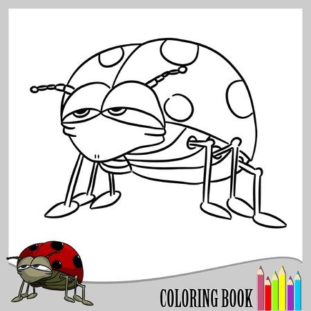 mariquitas: Coloring book - Mariquita Vectores