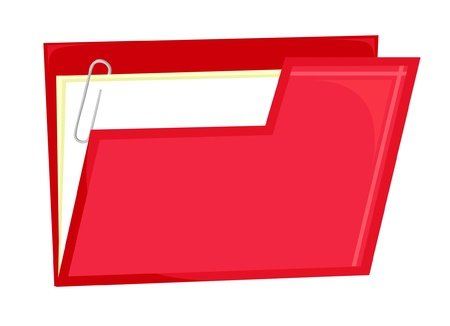Red file icon (vector)