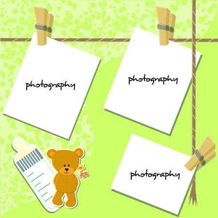 Scrap-booking card - my baby (vector)  Çizim