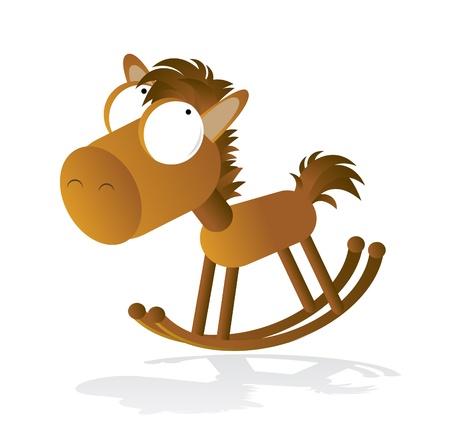 for children toys: Wooden rocking horse