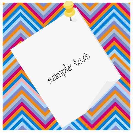 Paper tag for sample text on colorful Çizim