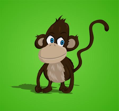 Lovely small monkey  vector   Illustration