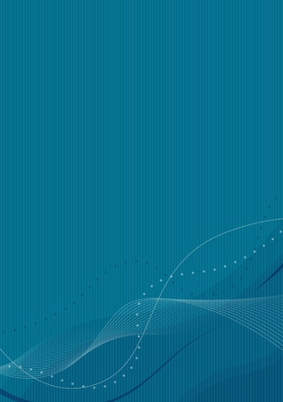 Blue abstract wallpaper - waves on stripes background (vector)