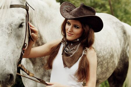country girls: Beautiful cowgirl  Shot in the stable