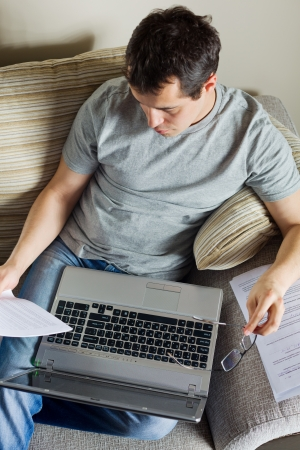 Self-employed man working at home photo