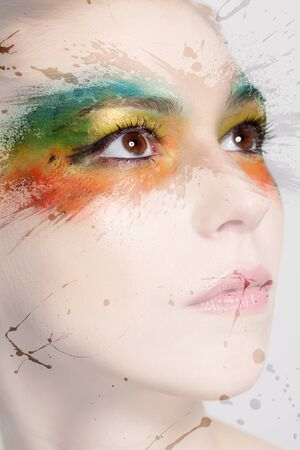 Colourful makeup photo