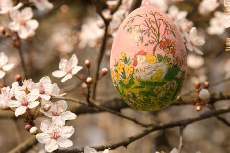 obsessive: Decorative egg on the tree