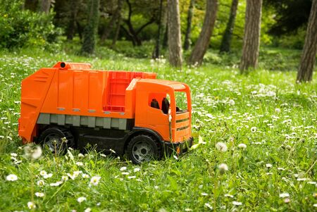 autotruck: Toy truck in the grass